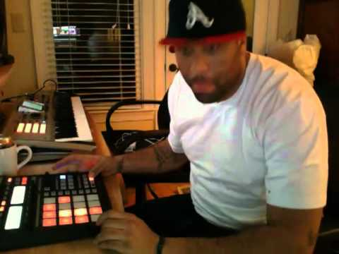 Don Cannon making a beat