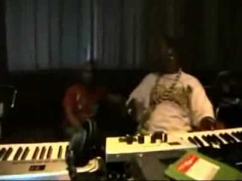 Timabaland in the studio with Busta Rhymes